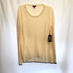 Vince Camuto Sweaters - Vince Camuto Tipped Bell Sleeve Sweater Crewneck